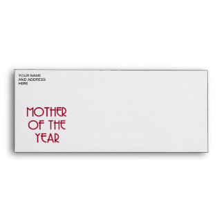 Mother of the year envelope