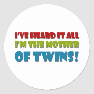 Mother of Twins Classic Round Sticker
