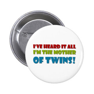 Mother of Twins Pinback Button