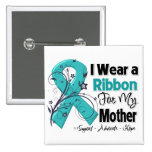 Mother - Ovarian Cancer Ribbon Pinback Button