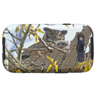 Mother Owl and Baby in Nest Galaxy SIII Case