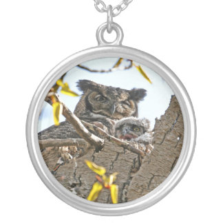Mother Owl and Baby in Nest Jewelry