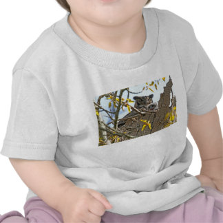 Mother Owl and Baby in Nest Tees