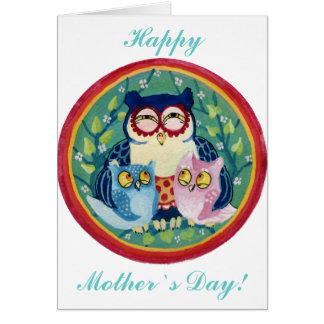 Mother owl card