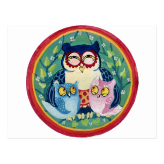 Mother owl postcard