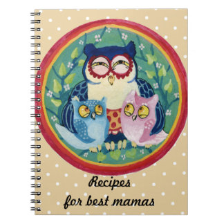 Mother owl recipes notebook
