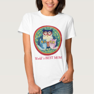 Mother owl the best mom t-shirt