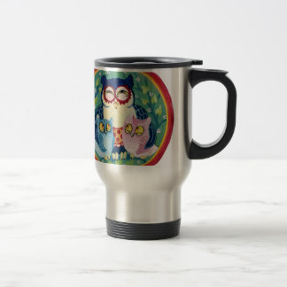 Mother owl travel mug