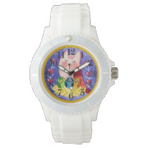 Mother owl triplets wrist watch