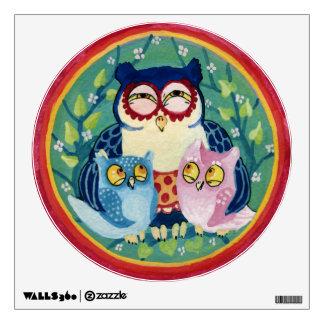 Mother owl wall sticker
