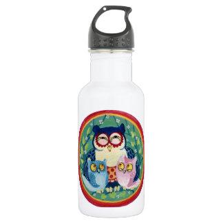 Mother owl water bottle