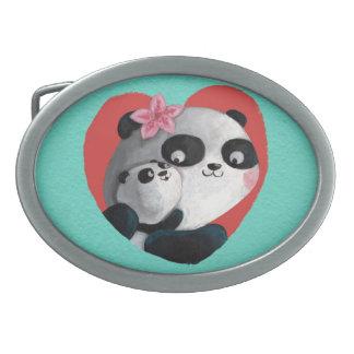 Mother Panda with Baby Belt Buckle