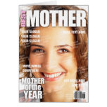 Mother Personalized Magazine Cover Greeting Card