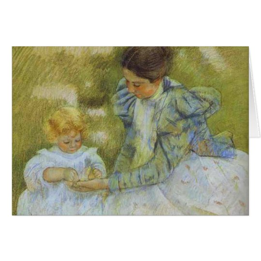 Mother Playing with Her Child. c.1897, Mary Cassat Card