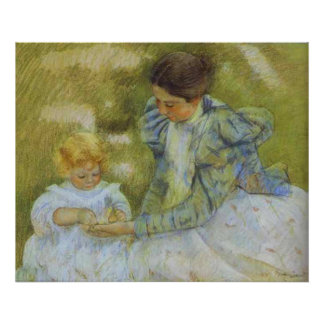 Mother Playing with Her Child. c.1897, Mary Cassat Posters