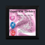 """Mother Poem  -  80th Birthday Keepsake Box<br><div class=""""desc"""">A great gift for a mother on her 80th birthday</div>"""