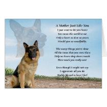 Mother poem - German Shepherd Dog