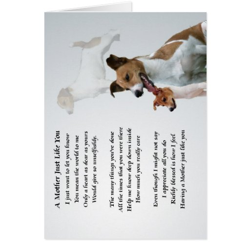 Mother Poem - Jack Russell Greeting Cards