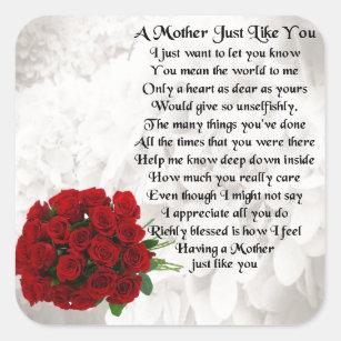 Mothers Day Poem Stickers Zazzle
