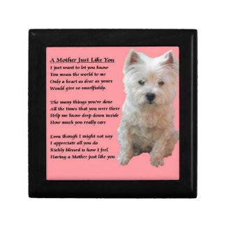 Mother Poem - Westie Jewelry Box