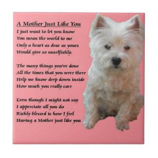 Mother Poem - Westie Tile