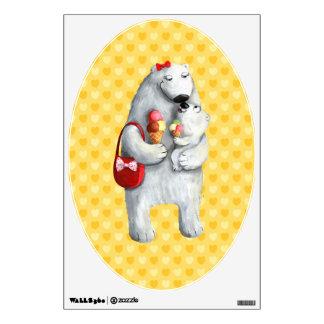 Mother Polar Bear Wall Decal