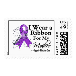 Mother Purple Ribbon - Pancreatic Cancer Postage