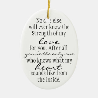 Mother Quote Double-Sided Oval Ceramic Christmas Ornament
