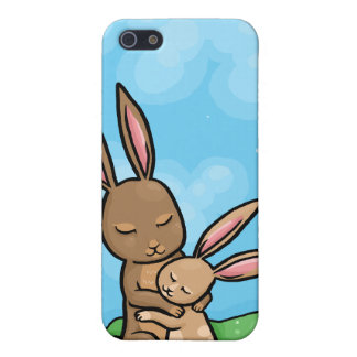 Mother Rabbit and Baby Bunny hug iPhone SE/5/5s Case