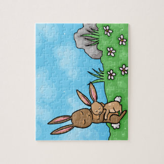 Mother Rabbit and Baby Bunny hug Jigsaw Puzzle