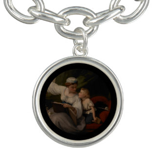 Mother Reading a Fairytale Charm Bracelet