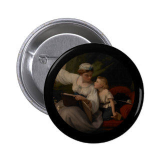 Mother Reading a Fairytale Pinback Button