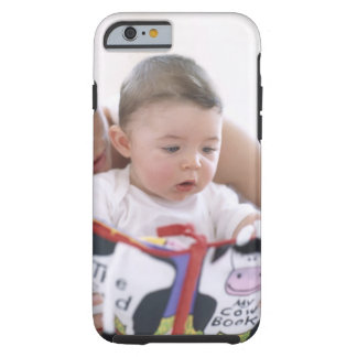 Mother reading to baby boy. Faces of a mother Tough iPhone 6 Case