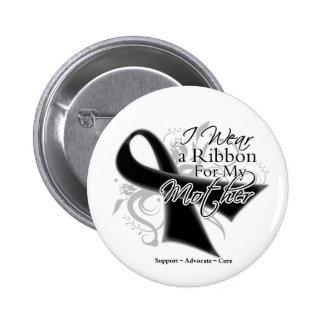 Mother Ribbon - Melanoma Skin Cancer Pinback Button