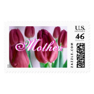 Mother - Rosey Tulips Postage stamp