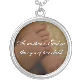 Mother Round Pendant Necklace