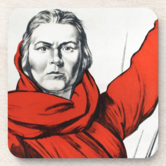 Mother Russia Communism Propaganda Drink Coasters
