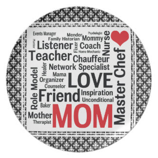 Mother s Day Amazing Multi-talented Super Mom Dinner Plate