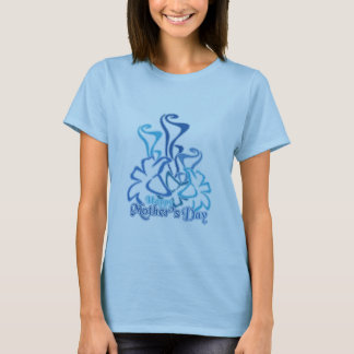 Mother's Day Blue Calla Lily Bouquet T-Shirt