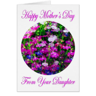 Mother's Day Bouquet from Daughter Card