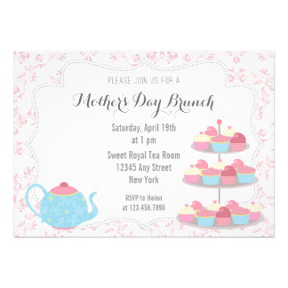 Mother s Day Brunch Invitation Floral Pink Personalized Invite