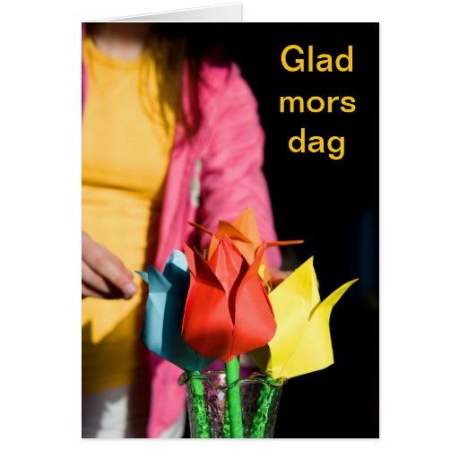 Mother´s day card in swedish