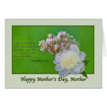 Mother's Day Card with Pink and White Flowers
