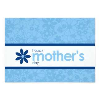 Mother's Day Cheerful Blue Floral Invitation