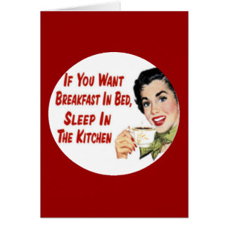 Mother s Day Funny Retro Housewife Card