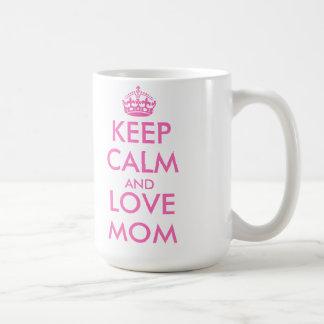 Mother s Day gift idea keep calm love mom mug