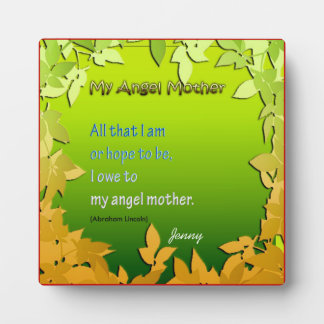 Mother's Day Greetings 2 Plaque