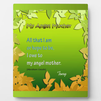Mother's Day Greetings 3 Photo Plaques