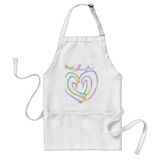 Mother s day heart design aprons