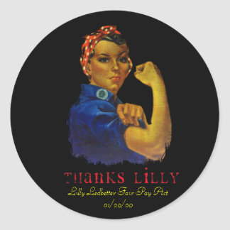 MOTHER S DAY LILLY LEDBETTER ROUND STICKERS